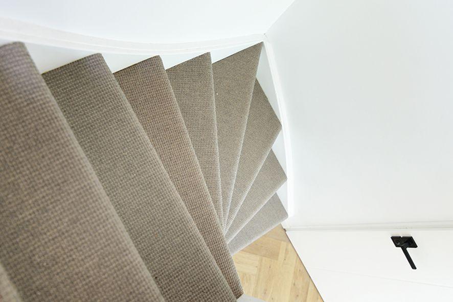 Tapijt Natuurlijk Materiaal : Tapijt trapbekleding voor een dichte trap in eindeloze kleuren en